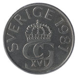 5-Krona-Münzen Lizenzfreie Stockfotografie