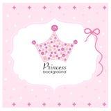 Krona med rosa prinsessabakgrund Fotografering för Bildbyråer