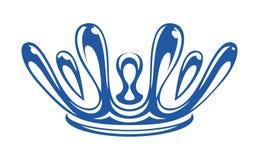 Krona som bildas av droppar av vattenfärgstänk Arkivbilder