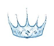 Krona som göras från vattenfärgstänk Royaltyfri Bild