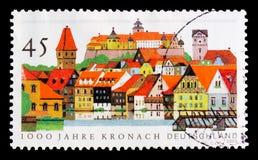 Kronach miasto, 1000 rok rocznic, seria, około 2003 Zdjęcie Royalty Free