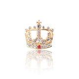 Kronajuvel som isoleras på vit Royaltyfri Fotografi