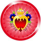 kronan blommar hjärta Royaltyfria Bilder