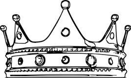 Kronan skissar illustrationen Arkivfoto