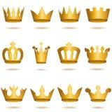 Kronasamling, kronauppsättning Arkivfoton