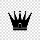Kronasymbol i moderiktig plan stil som isoleras på vit bakgrund Kungligt symbol för din webbplatsdesign, logo, app, UI vektor illustrationer