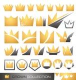 Kronasymbol och symbolsset Arkivfoton