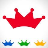 Kronasymbol också vektor för coreldrawillustration Royaltyfri Bild