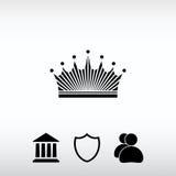 Kronasymbol, vektorillustration Sänka designstil Arkivbild