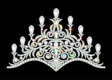Kronatiarakvinnor med att blänka ädelstenar Royaltyfria Foton