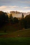 Kronbergkapel in Salzkammergut, Oostenrijk in ochtendlicht met Stock Foto