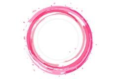Kronblad av sakura sprider design med kortet för vattenfärgstänkbanret, l stock illustrationer