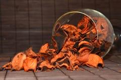 Kronblad i exponeringsglaset Royaltyfri Foto