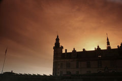 Kronborg Castel, Silhouette Royalty Free Stock Images