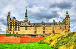Kronborg Castle, γνωστό ως Elsinore στην τραγωδία Άμλετ - της Δανίας στοκ εικόνα με δικαίωμα ελεύθερης χρήσης