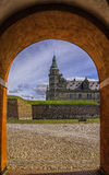 Kronborg castle Through The Archway Royalty Free Stock Photos