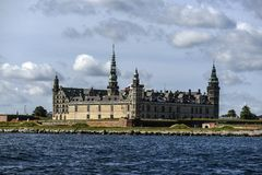 Kronborg Castle in Denmark, view from the water, sunny summer da. Y stock photos