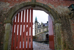 Kronborg Castle in Elsinore, Denmark. The gateway at Kronborg Castle in Elsinore, Denmark Royalty Free Stock Photos