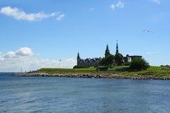 Kronborg Castle of Hamlet in Denmark. Castle of Kronborg, home of Shakespeare's Hamlet Stock Photo