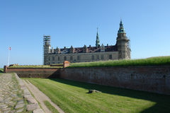 Kronborg Castle of Hamlet  Elsinore  Helsingor Denmark Royalty Free Stock Photography
