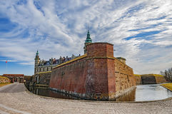 Kronborg castle of Hamlet. Kronborg castle made famous by William Shakespeare in his play about Hamlet situated in the Danish harbour town of Helsingor Stock Photos