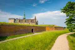 Kronborg Castle, Helsingor, Denmark stock photography