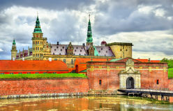 Kronborg Castle, known as Elsinore in the Tragedy of Hamlet - Denmark. Kronborg Castle, known as Elsinore in the Tragedy of Hamlet - Helsingor, Denmark Royalty Free Stock Images