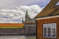 Kronborg castle From The Moat House Stock Photos