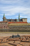 Kronborg Castle and replica model Royalty Free Stock Images