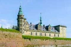 Kronborg grodowy zewnętrzny widok Copenaghen Dani fotografia stock