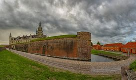 Kronborg kasztelu panorama Zdjęcie Stock