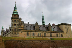 Kronborg lub Elsinore kasztel w Kopenhaga, Dani Zdjęcie Royalty Free