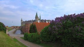 Kronborg slott, Helsingor, Själland, Danmark lager videofilmer