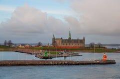 Kronborg slott i Danmark royaltyfri foto
