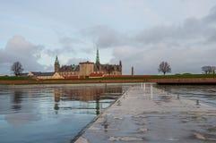 Kronborg slott i Danmark royaltyfria bilder