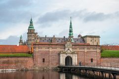Kronborg slott i Danmark arkivfoton
