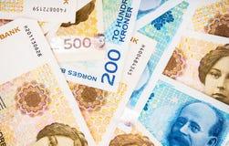 Krone Banknotes Closeup Royalty Free Stock Photography