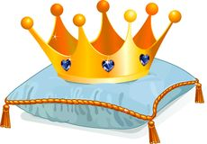 Krone der Königin auf dem Kissen Lizenzfreies Stockfoto
