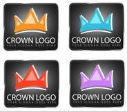 Krone Logo Designs Lizenzfreies Stockbild