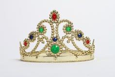Krone mit bunten Steinen Stockbild