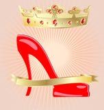 Krone und Schuh Lizenzfreies Stockbild