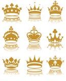 Kronen Royalty-vrije Stock Foto's