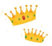 Kronen des Königs und der Königin Lizenzfreie Stockbilder
