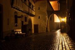 Kronenburg在夜之前 库存图片