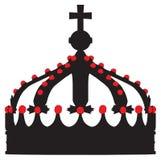 Kronenkönig-umreißschattenbild vektor abbildung