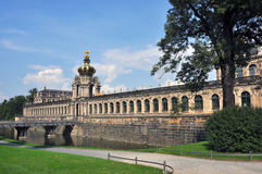 Kronentor, Baroque architecture of Dresden's Zwinger, Germany stock photo
