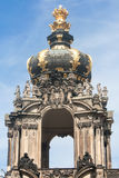 The Kronentor of the palace Zwinger in Dresden Stock Image