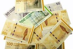 Kroner. Mixed denomination Danish Kroner notes Royalty Free Stock Images
