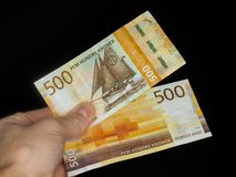 500 kroner bills royalty free stock photo