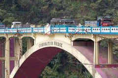 Kroningsbrug, West-Bengalen, India stock foto's
